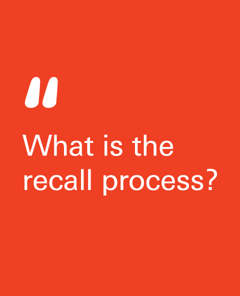 What is the recall process?