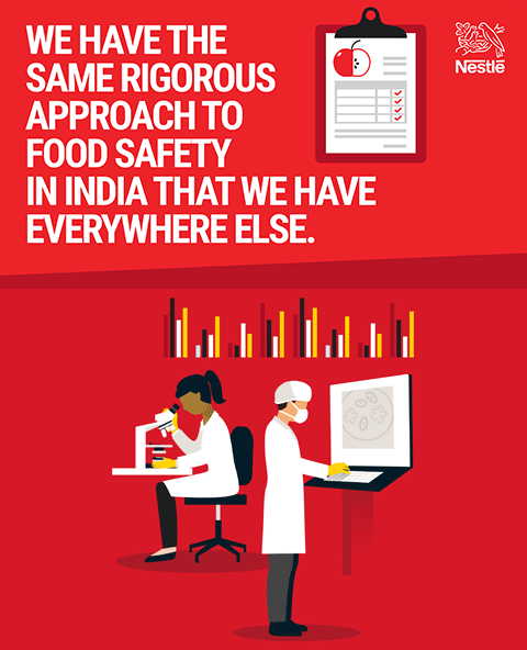 We have the same rigorous approach to food safety in india that we have everywhere else