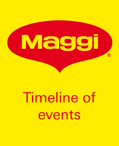 Maggi noodles timeline of events?