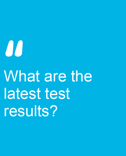 What are the latest test results?