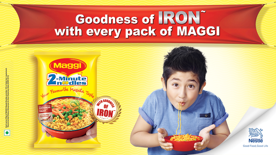 Nestlé MAGGI now with goodness of Iron