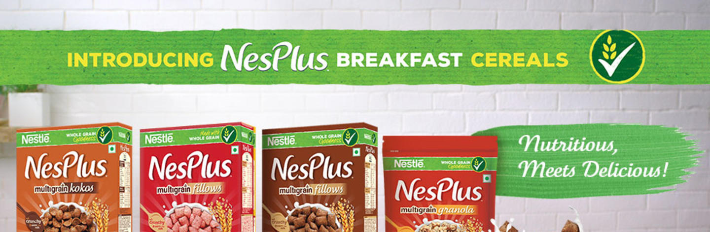 Introducing NesPlus breakfast cereals.